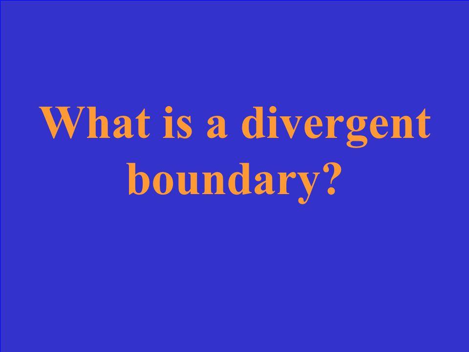 Type of Boundary