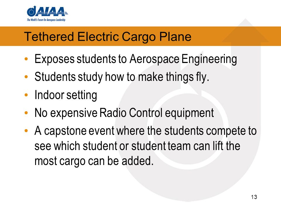 Tethered Electric Cargo Plane Exposes students to Aerospace Engineering Students study how to make things fly.