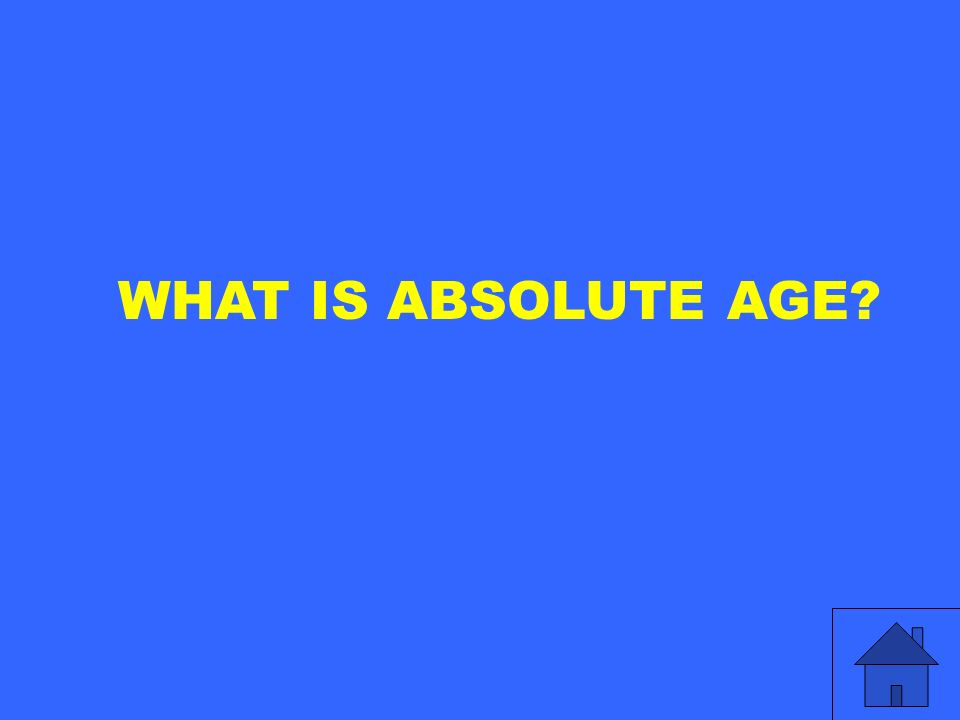 WHAT IS ABSOLUTE AGE