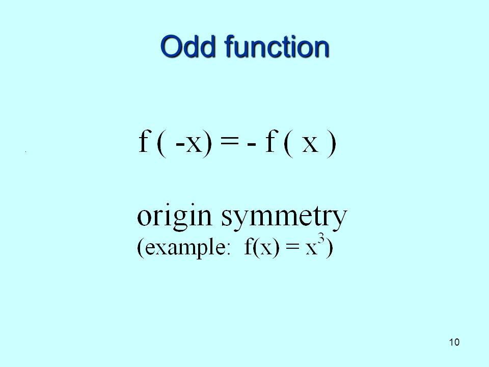 10 Odd function