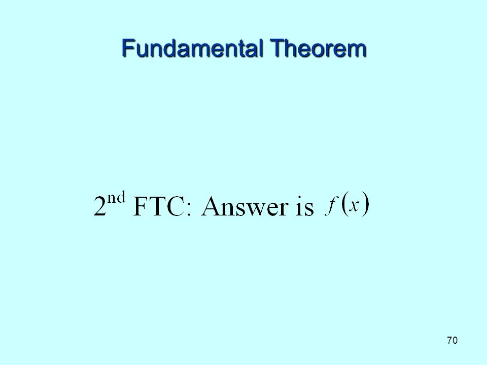 70 Fundamental Theorem