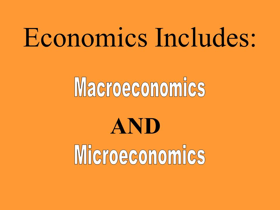Economics Includes: AND