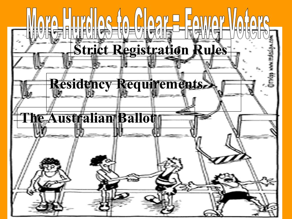 The Australian Ballot Residency Requirements Strict Registration Rules