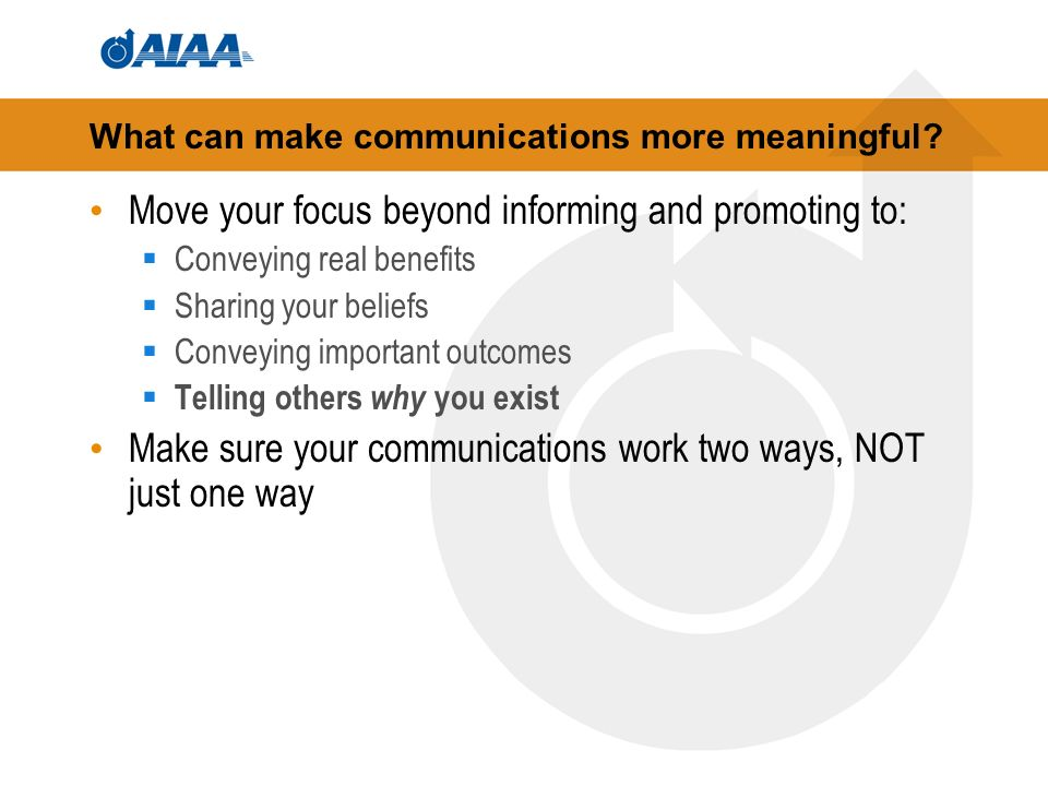 What can make communications more meaningful.