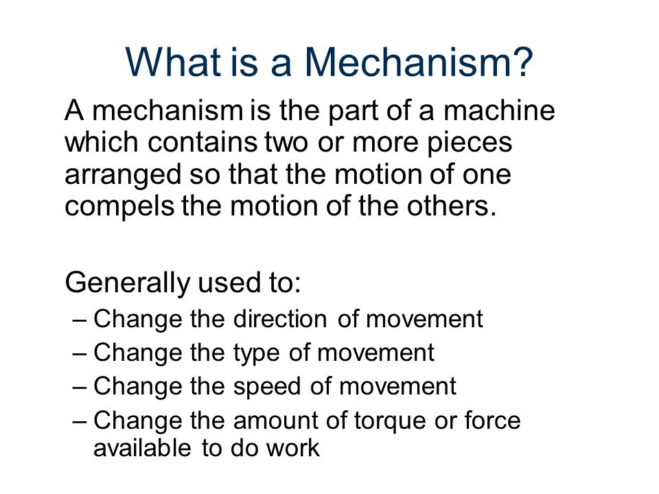 Mechanism Movements Rotary Linear Reciprocating Oscillating