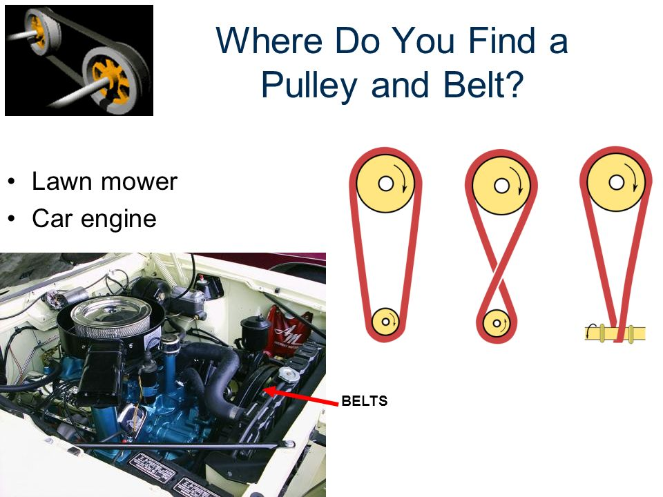 Where Do You Find a Pulley and Belt? Lawn mower Car engine BELTS