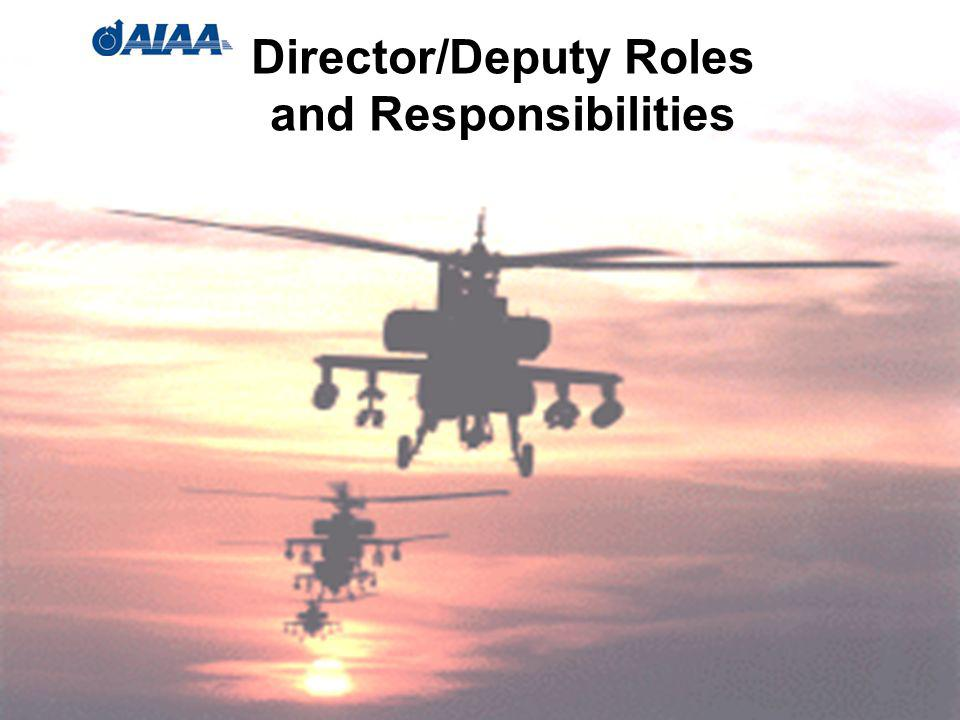 38 Director/Deputy Roles and Responsibilities