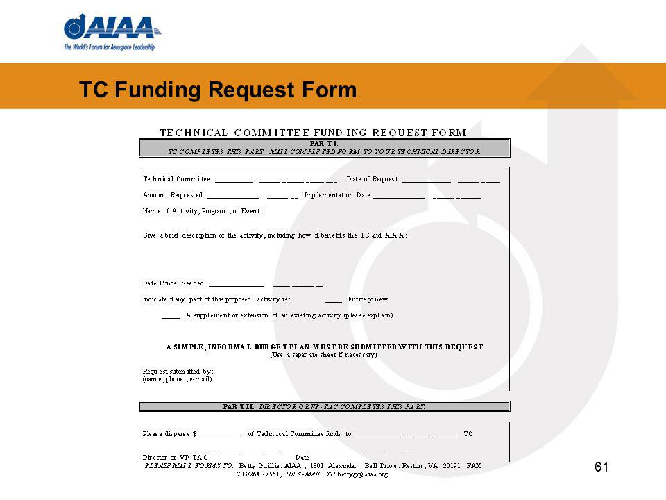 61 TC Funding Request Form