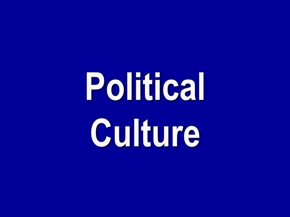 Political Culture, Political Ideology, and Political Socialization