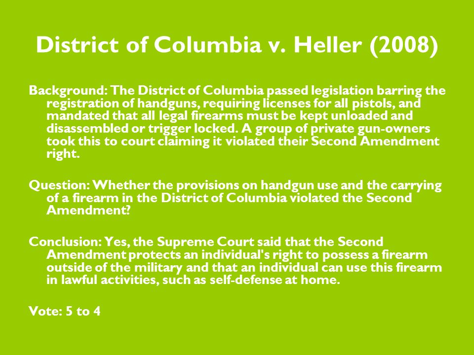 District of Columbia v.