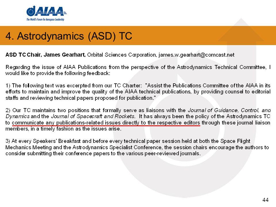 44 4. Astrodynamics (ASD) TC