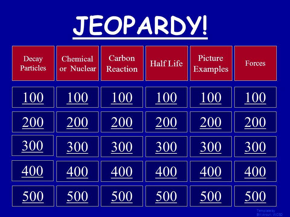 Round 1 Final Jeopardy
