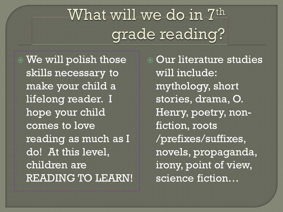 We will polish those skills necessary to make your child a lifelong reader.