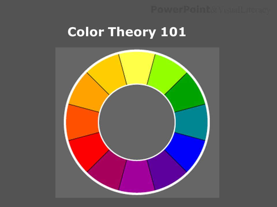 PowerPoint &VisualLiteracy Color Theory 101