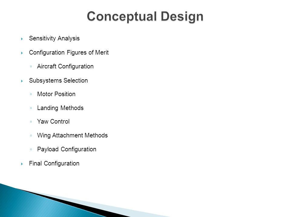 The Aerodynamics team planned and organized the design process into several design steps outlined in the flowing diagram.