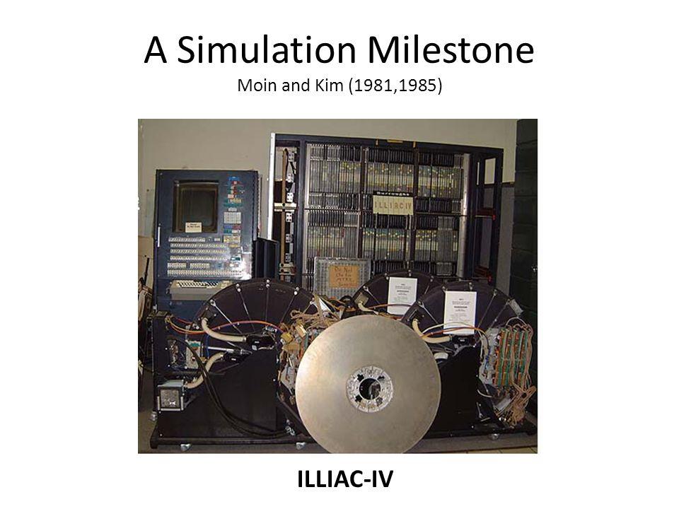 A Simulation Milestone Moin and Kim (1981,1985) ILLIAC-IV