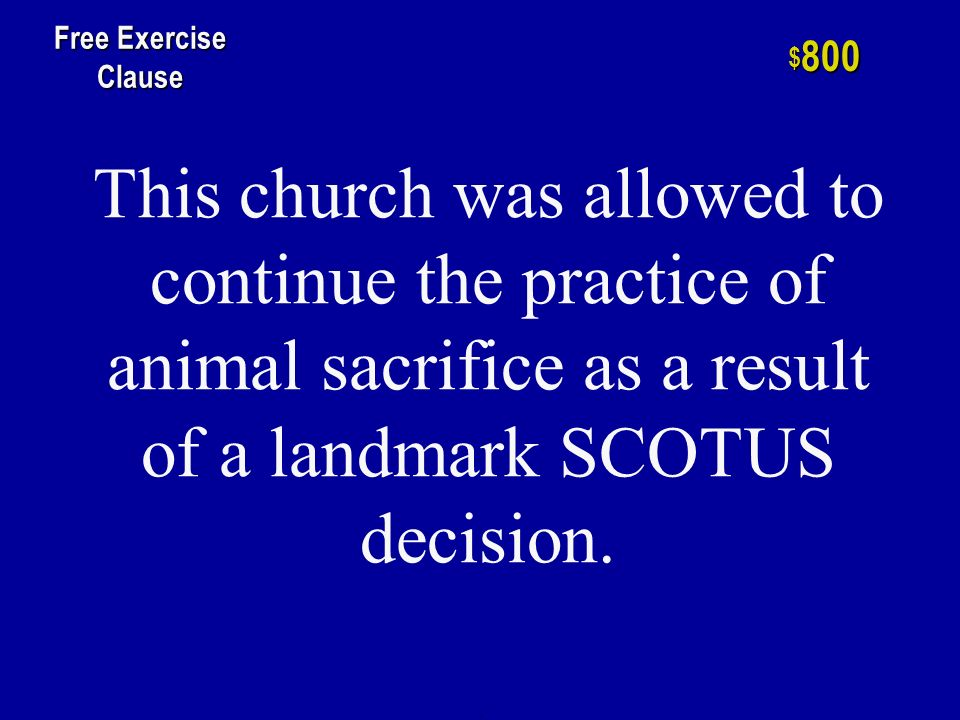 This was recognized as NOT having free exercise protection in Reynolds v.