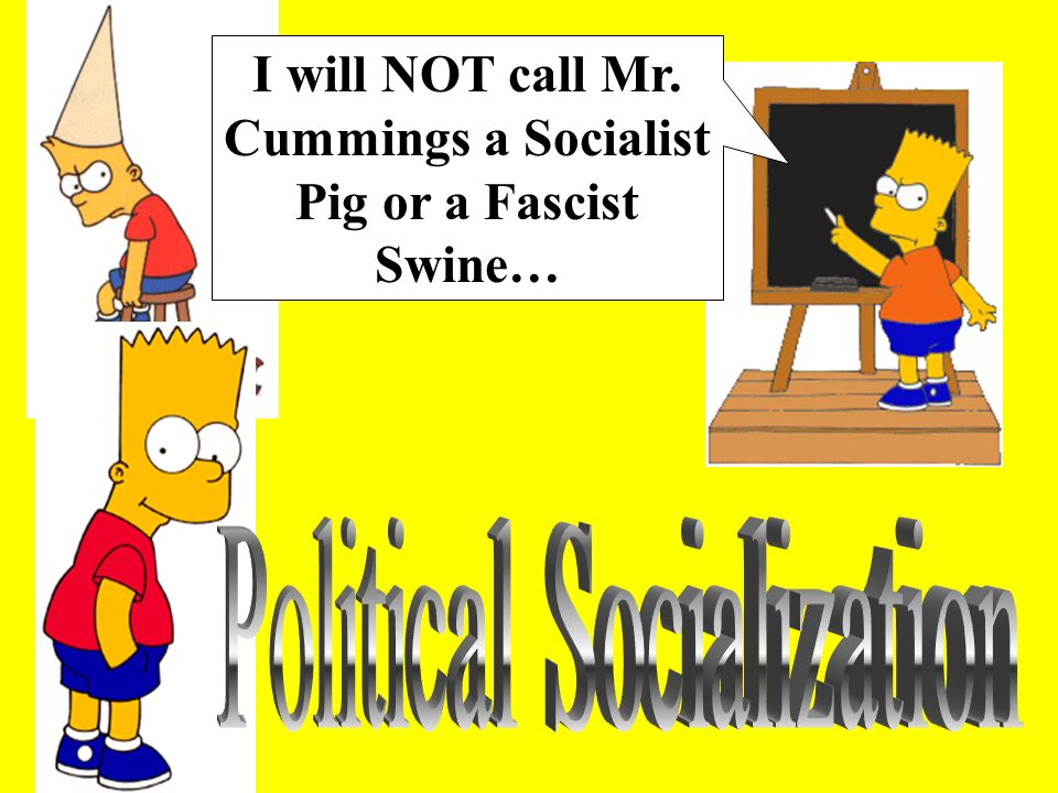 I will NOT call Mr. Cummings a Socialist Pig or a Fascist Swine…