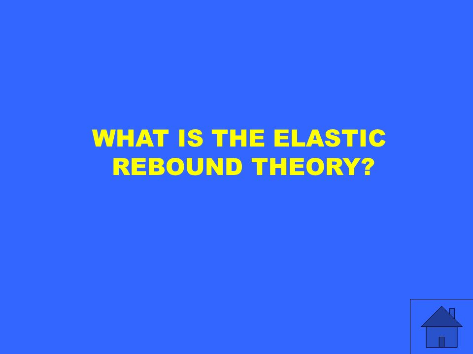 WHAT IS THE ELASTIC REBOUND THEORY?