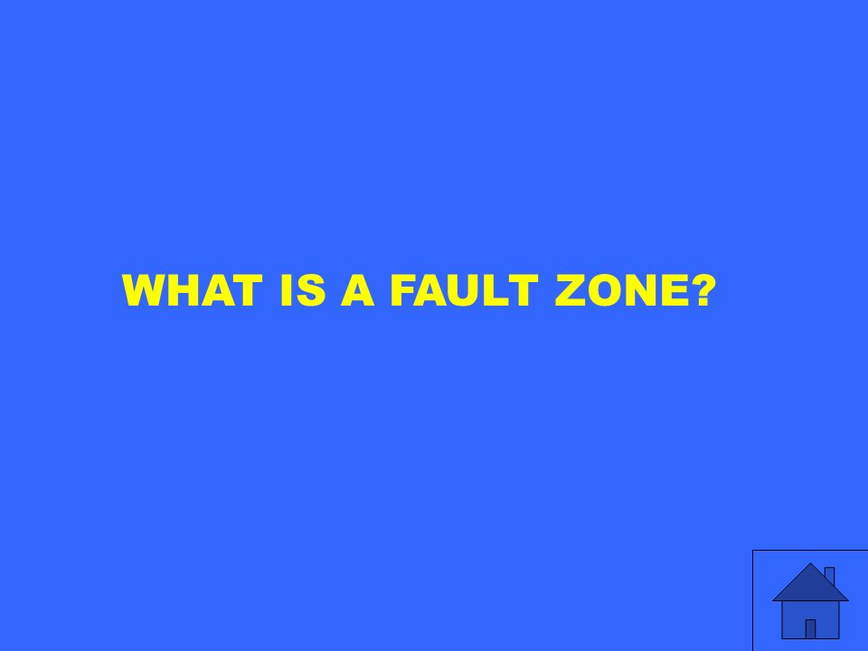 WHAT IS A FAULT ZONE?