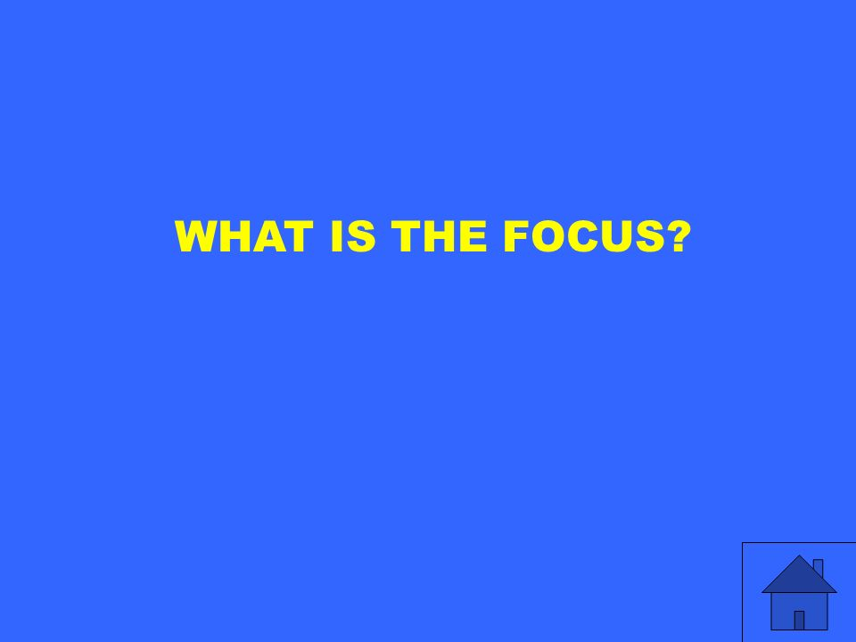 WHAT IS THE FOCUS?