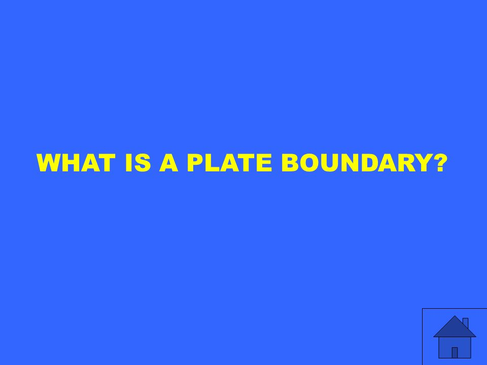 WHAT IS A PLATE BOUNDARY?