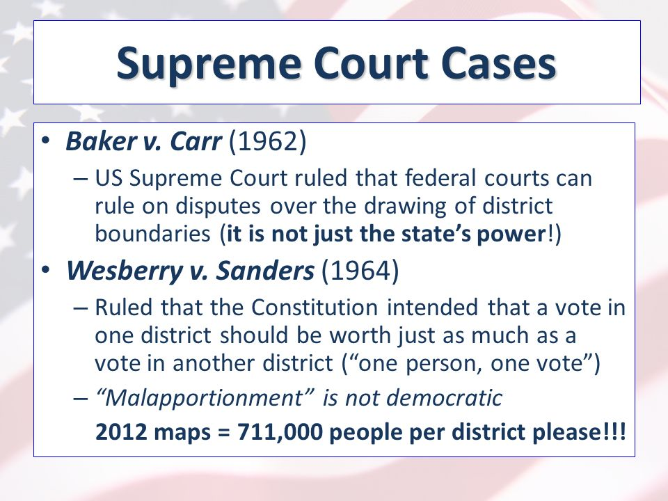 Supreme Court Cases Baker v.