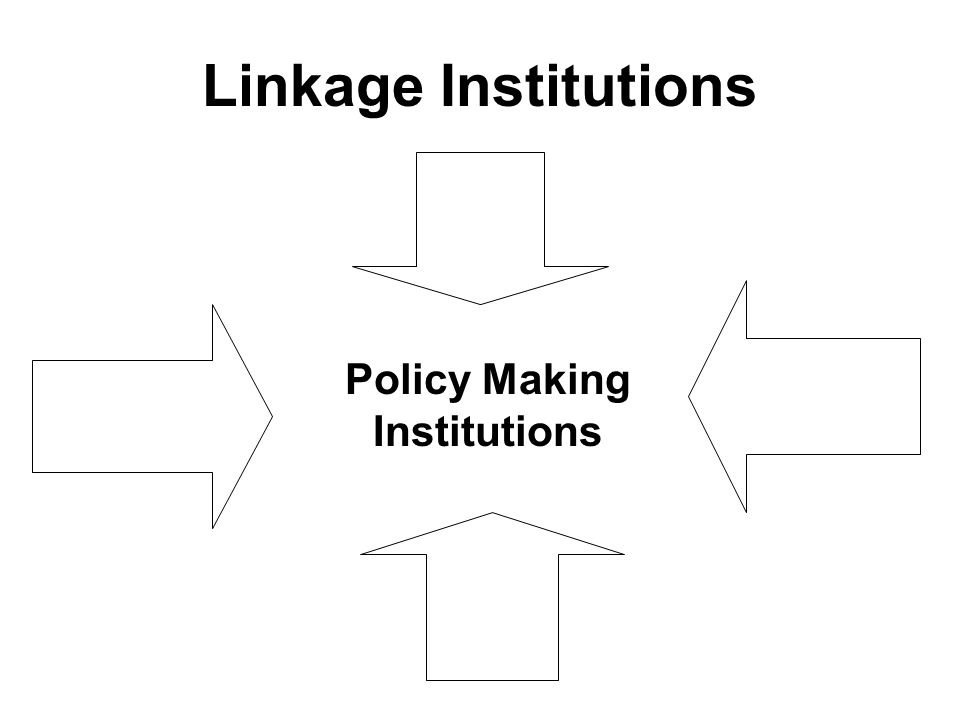 Linkage Institutions Policy Making Institutions
