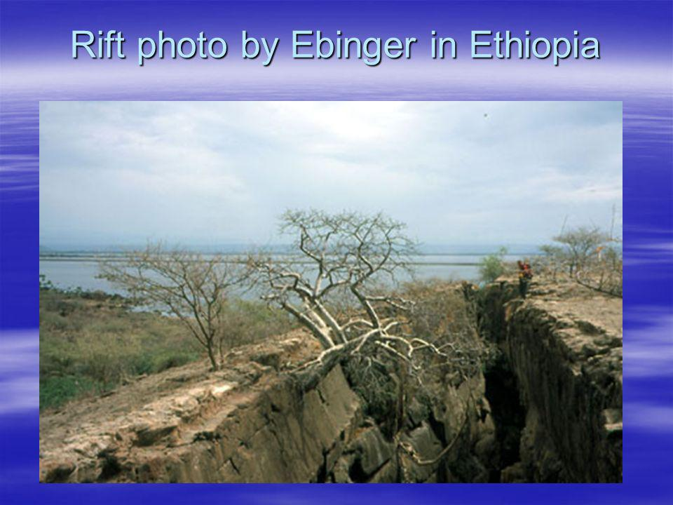 Rift photo by Ebinger in Ethiopia