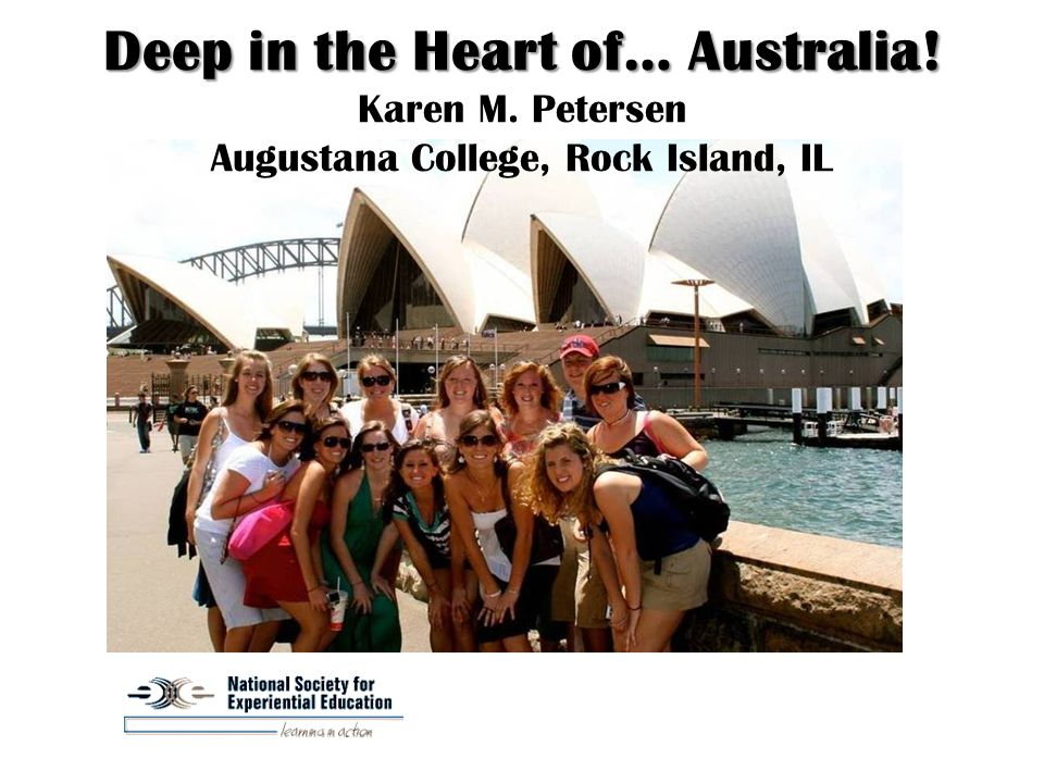 Deep in the Heart of… Australia. Deep in the Heart of… Australia.