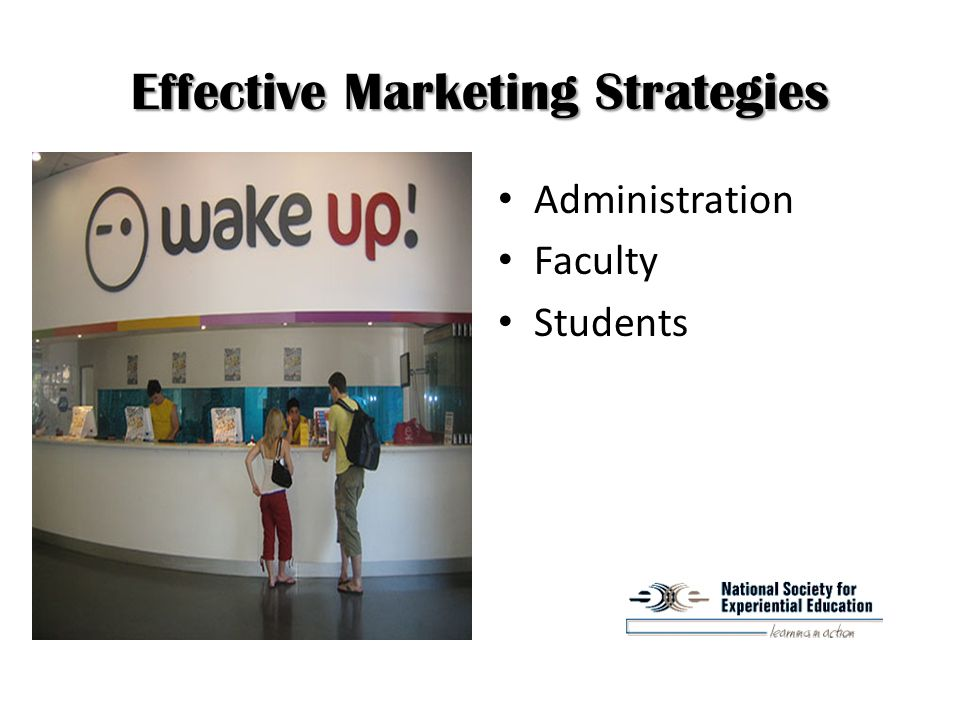 Effective Marketing Strategies Administration Faculty Students