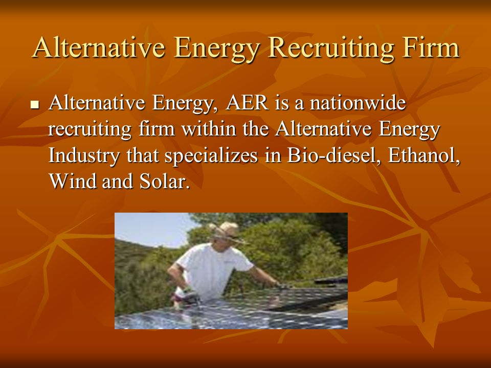 Alternative Energy Analyst Full service NASDAQ member firm is presently seeking a senior equity research analyst specializing in the alternative energ