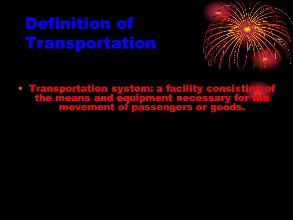 Transportation Technology And Systems