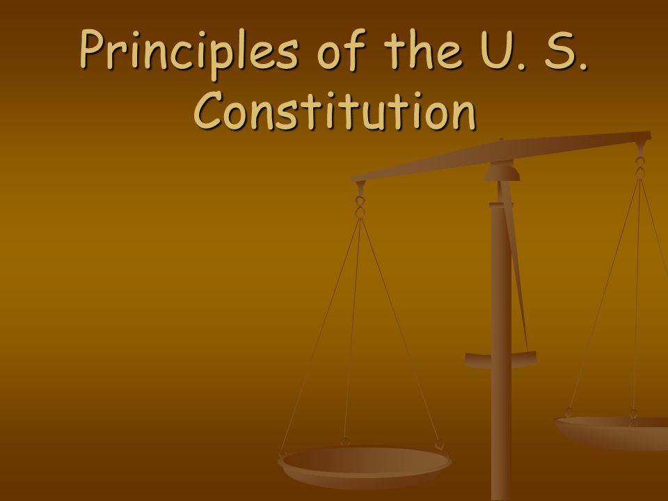 Seven principles found in the U.S.