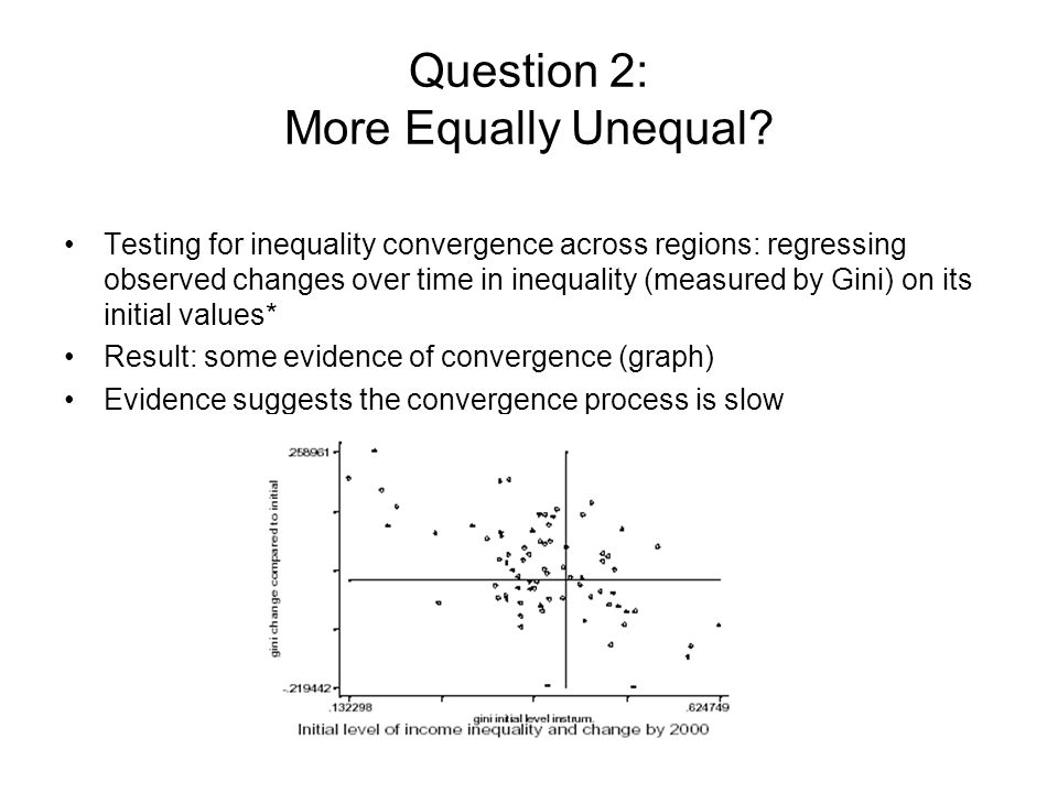 Question 2: More Equally Unequal.