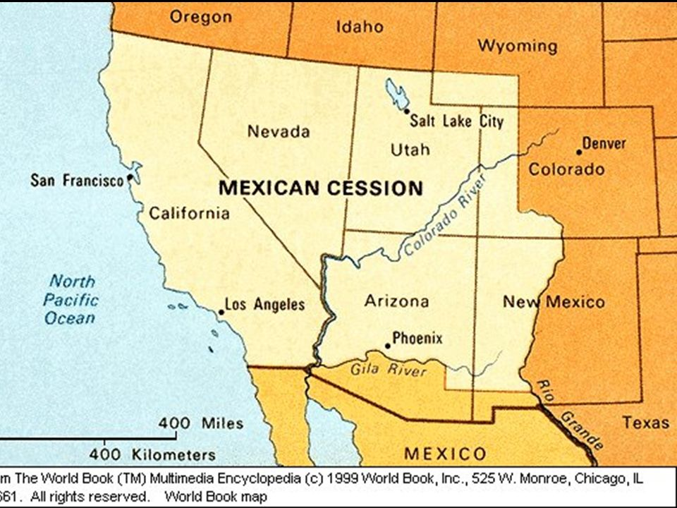 Later the U.S.bought the lower part of New Mexico and Arizona from Mexico for $10 million.