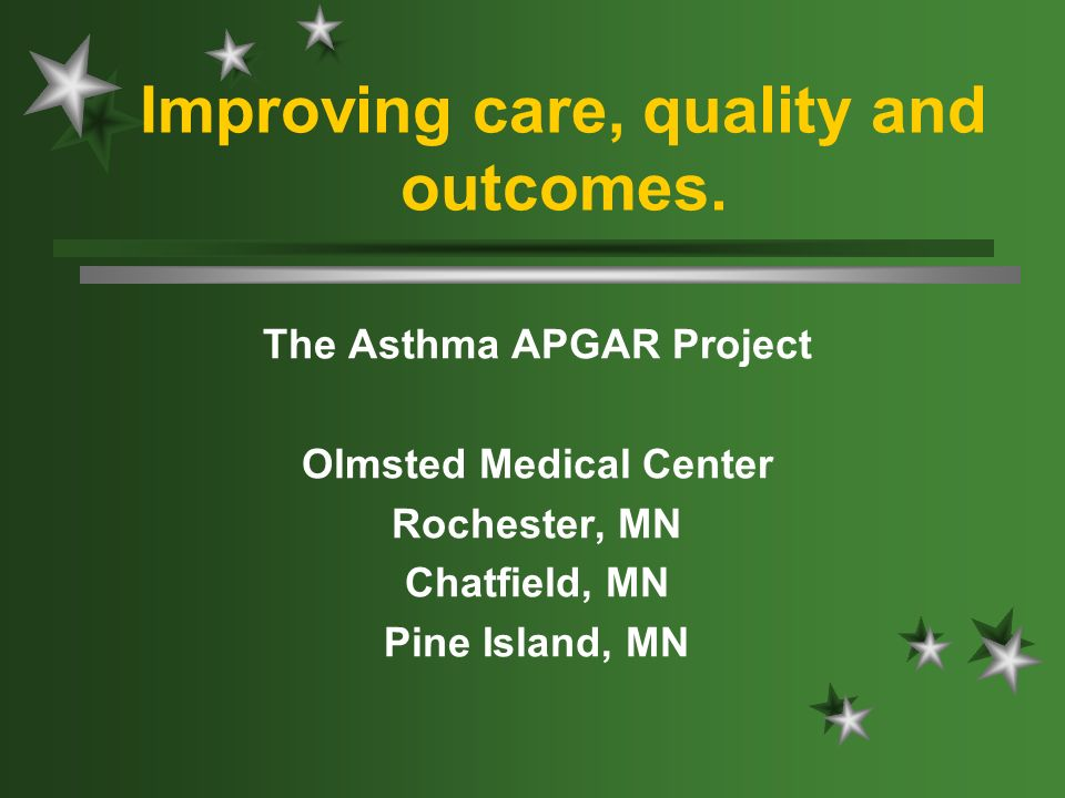 Improving care, quality and outcomes.