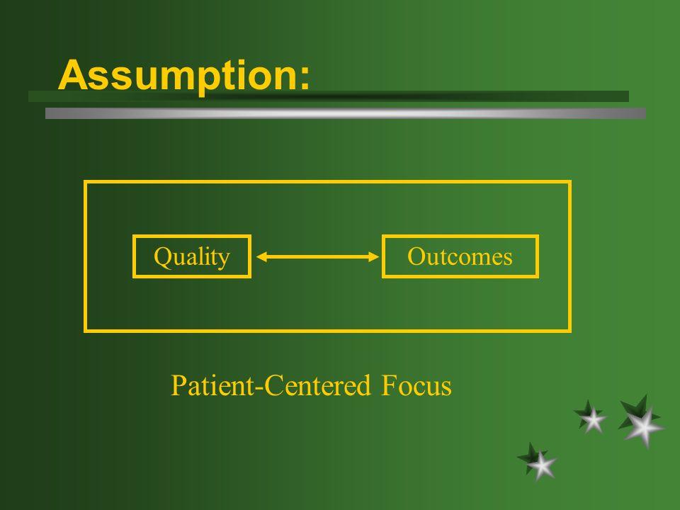 Assumption: QualityOutcomes Patient-Centered Focus