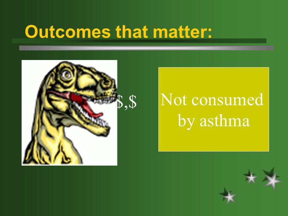 $,$,$ Not consumed by asthma Outcomes that matter: