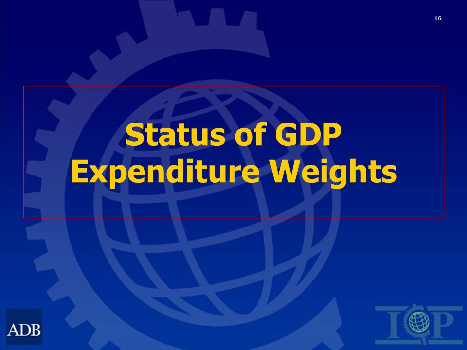 16 Status of GDP Expenditure Weights