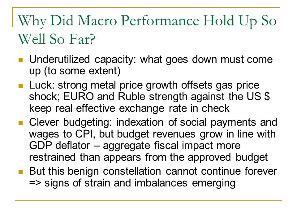 Why Did Macro Performance Hold Up So Well So Far.