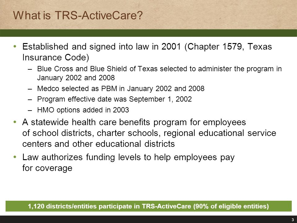 3 What is TRS-ActiveCare.