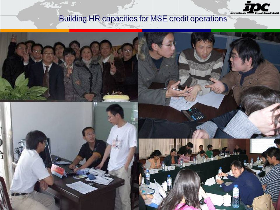 Building HR capacities for MSE credit operations