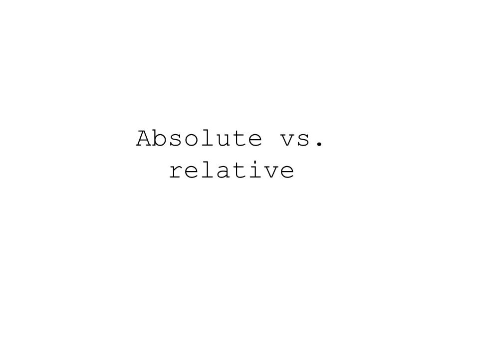 Absolute vs. relative