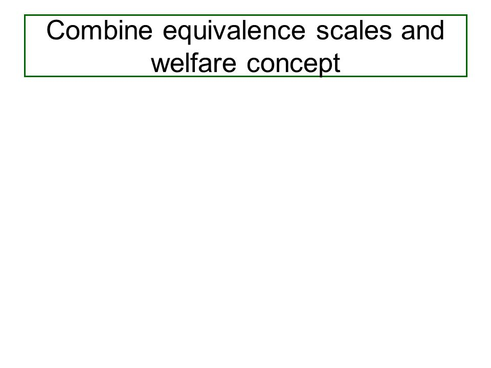 Combine equivalence scales and welfare concept