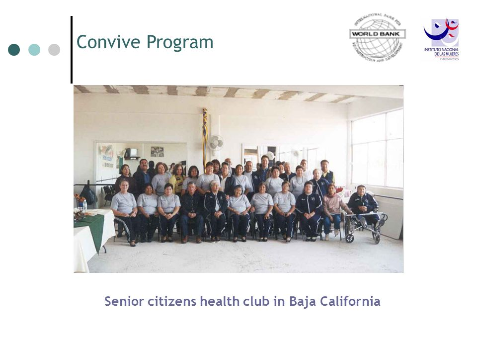 Convive Program Senior citizens health club in Baja California