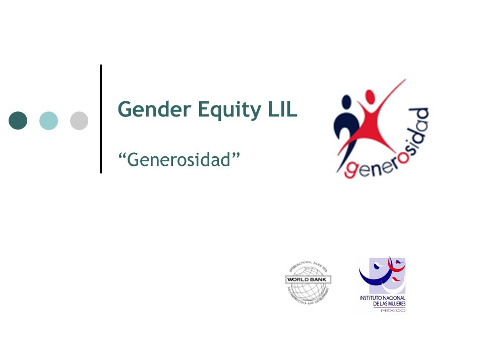 Gender Equity LIL Generosidad