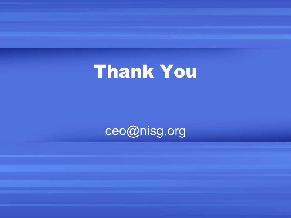 Thank You ceo@nisg.org