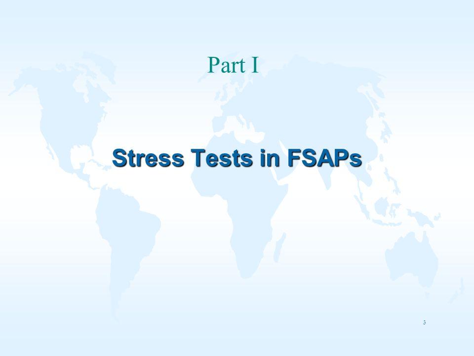 3 Stress Tests in FSAPs Part I