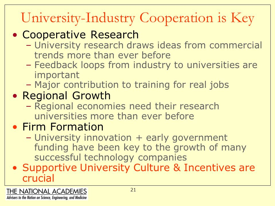 20 Concerns about the 21 st Century University New Concerns that University-Industry Partnerships can Negatively impact a culture of Open Science Redu